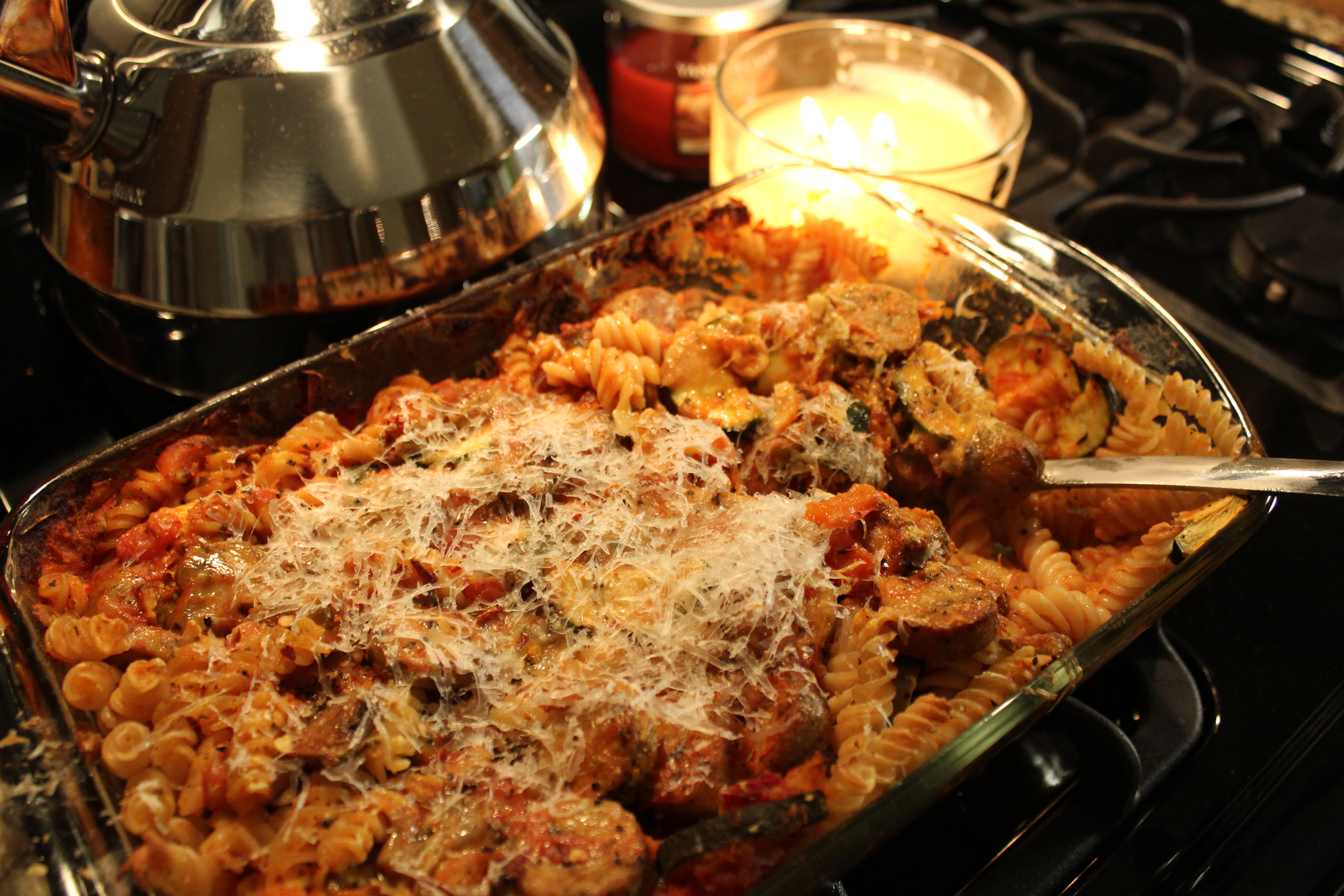 Baked Pasta with Mushrooms, Zucchini & Manchego Cheese (GF) | Girl ...
